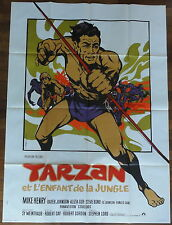 Ancienne Affiche Cinéma TARZAN et L'ENFANT de la JUNGLE. Cinema Movie Poster.