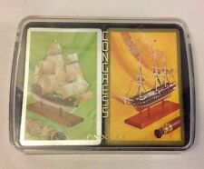 Vintage Congress Model Tall Ships Playing Cards Double Deck Case USA