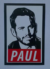 *** Paul Walker Sticker - Paul Decal ***