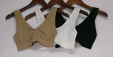 Comfortisse Sz XL Perfect Fit Set Of Seamless Bras Beige/ Black/ White NEW NWOT