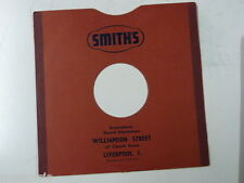 """78 rpm 10"""" inch card gramophone record sleeve , SMITHS , LIVERPOOL"""