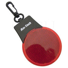 2 LED CLIP ON REFLECTOR LIGHTS BIKE CYCLE WORK ROAD REFLECTIVE BRIGHT RED SHINE