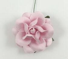 10 Soft Pink Mulberry Paper Flower Wedding Scrapbook DIY Craft Large Rose ZR77-2