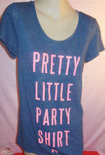 victoria's secret pink t shirt  crew neck  shimer black xs nwt
