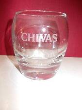 Chivas Regal original rounded low ball rocks Scotch Whisky glass tumbler