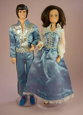 DONNY & MARIE OSMOND DOLLS - 1976 - IN SILVER SHIMMER OUTFITS