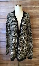 Nordic Winter Sun & Shadow Large Sweater Nordstrom  Black White New With Tags❤️