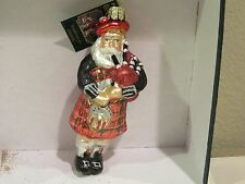 Scottish Santa Old World Christmas glass ornament