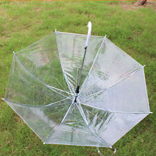 Transparent Rain Umbrella Clear Automatic Parasol PVC Dome Wedding Party Favor