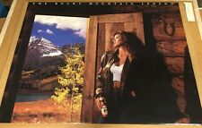 Sexy Girl Beer Poster COORS ~ Rocky Mountain Legend Poster 1991