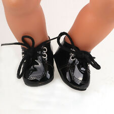 hot 1set Doll black shoes for 43cm Baby Born zapf (only sell clothes ) B675