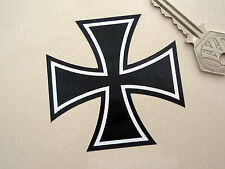 IRON CROSS Black &White 75mm Sticker Hot Rod Custom Bobber Chopper SS VW Maltese
