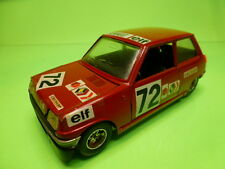 BBURAGO 0103 RENAULT 5 - RALLY ELF No 72 - RED 1:24 - GOOD CONDITION
