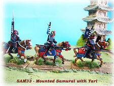28mm Mounted Samurai with Yari x 3