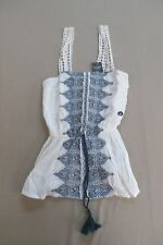 Abercrombie & Fitch Women's Crochet Strap Tank White Size XS LL1 NWT