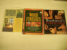 Woocarver's Problem Solver Wood Finishes Everyday Antiques 3 Lot LN 123-1A