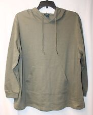 NEW WOMENS PLUS SIZE 3X OLIVE GREEN LONG SLV SHIRTTAIL HOODIE HOODED SWEATSHIRT