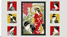 Diary of a Geisha Japanese Lady Cotton Quilting Fabric Panel 2810P 88 Studio E