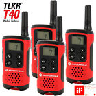 4 x Motorola Talker TLKR T40 2 Way Walkie Talkie Compact PMR446 Radio QUAD Pack