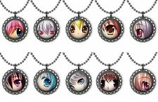 Anime Eyes Bottle Cap Necklace Birthday Party Jewelry Favors Lot of 10