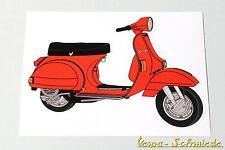 "VESPA Dekor Aufkleber ""PX"" - Rot - Lusso alt 80 125 150 Roller Scooter Sticker"