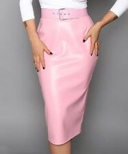 Deadly Dames Pink Deadly Curves Pencil Skirt Size L NWT