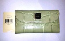 NWT $185 Dooney & Bourke Checkbook Leather Wallet in Pistachio Color