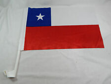 Chile Car Flag Bandera ! EZ Car Flags for Car Window mounted clip on Soccer