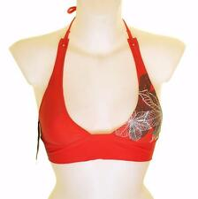 "Bnwt Women's Oakley Jaw Breaker Padded Bikini Top Swim Wear Xlarge 42""-43"" Red"