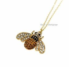QUALITY GOLD BEE NECKLACE PENDANT NECKLACE CHRISTMAS GIFT STUFFING