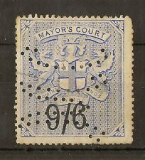 GB 1902 9/6d Mayor's Court + Perfin