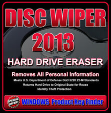 DISC WIPER CLEANER CD * 100% Erase Hard Drive Data * Meets US Government Standar