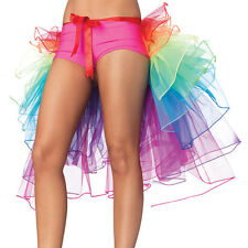 2017 Women Sexy Rainbow Neon Tutu Skirt Rave Party Dance Half Bustle Burlesque