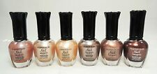 6 PCs Kleancolor Natural Color Nail Polish Set! Pearl Beige, Americano, Espresso