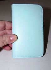 WOMEN'S BUXTON MINT GREEN GENIUNE LEATHER EXTERIOR SNAP CARD CASE ID WALLET