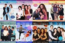WILL AND GRACE COMPLETE SERIES 1 2 3 4 5 6 7 8 SEASONS COLLECTION DVD NEW UK R2