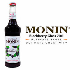 MONIN Coffee Syrups - 70cl Glass BLACKBERRY Syrup - USED BY COSTA COFFEE