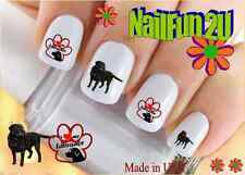"RTG Set#159 DOG BREED ""Black Labrador Retriever"" WaterSlide Decals Nail Transfer"