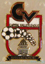 Soccer Ball Sports CAPITAL VALLEY LEAGUE INVITATIONAL 80's Hat Pin Badge Pinback
