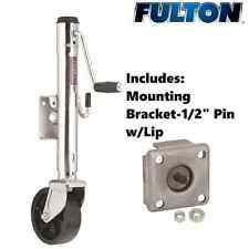 FULTON TRAILER JACK 1200 LBS  BOLT-THRU SWIVEL WELD-ON W/ MOUNTING BRACKET BOAT