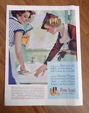 1935 Bon Ami Cleaning Ad  Housewife's Fashion  Cleaning the Bathroom