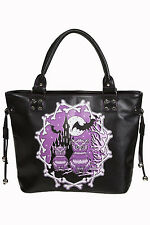 "Banned ""Secret Obsession"" Owls & Castle Handbag School Shoulder Bag Black"