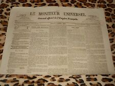 LE MONITEUR UNIVERSEL, journal officiel de l'empire français, n° 282, 09/10/1858