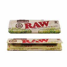 Authentic RAW Organic Metal Hinge King Size Smoking Rolling Papers Holder Case