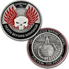 USMC Death Before Dishonor Challenge Coin United States Marine Corps Semper Fi