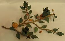 Vintage Italian Italy Toleware Strawberries Candle Holder Table Scape 0081010