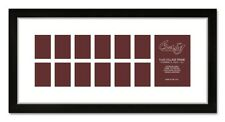 Craig Frames Baby's First Year 11x24 Framed White Collage Mat with 13 Openings