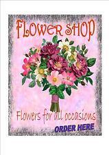 Vintage Style florist Shop Sign  Retro Style shop  Sign  Sign flower shop sign