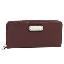 NWT MARC by MARC JACOBS 'NEW Q' CARDAMOM LEATHER SLIM ZIP AROUND WALLET-$198
