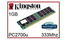 Kingston KVR333X64C25/1G 1GB 333Mhz DDR1 no ECC Memoria de escritorio RAM 184 Pin 2.5V